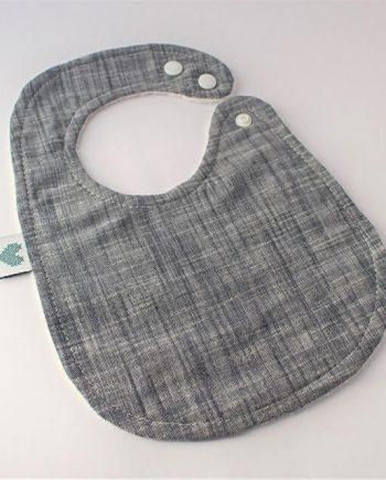 baby bib in indigo fabric