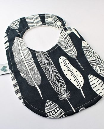 Baby Bibs Navy Feathers