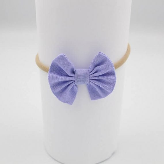 purple baby girls headband