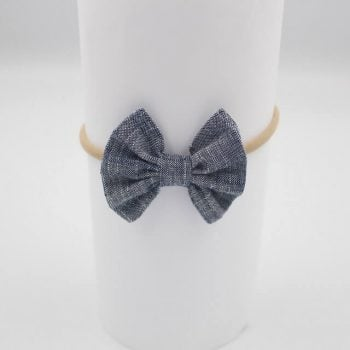Baby Headband in Indigo print