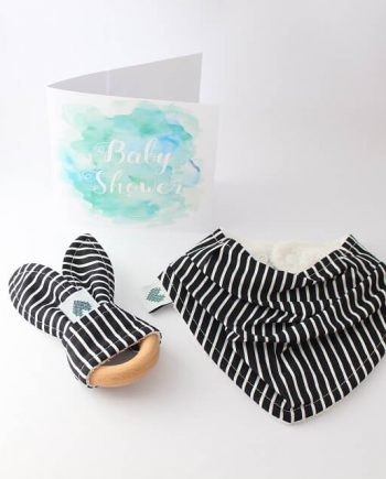 Baby Shower Gift Mini Black and White Stripes