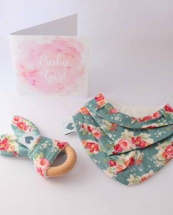 baby gifts in Australia in floral cabbage rose fabric