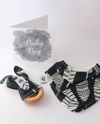 Baby Shower Gift Mini Navy Feathers
