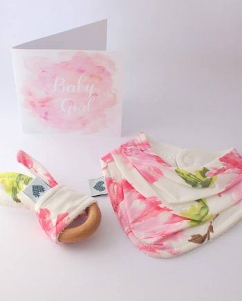 baby presents in pink blossom tallulah fabric print