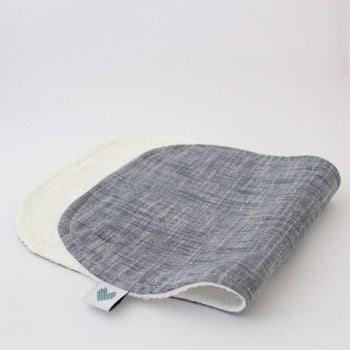 Indigo colour burp cloth
