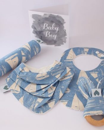 Baby Shower Ideas in Boats fabric print