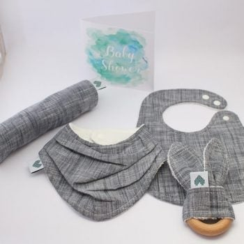 newborn baby boy gifts in Indigo print