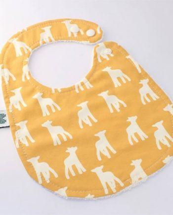 newborn bibs in lambs fabric print