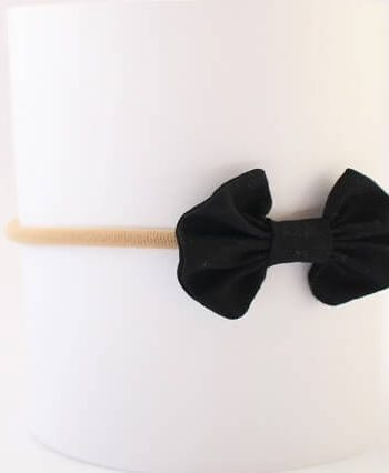 Headbands for babies in black fabric