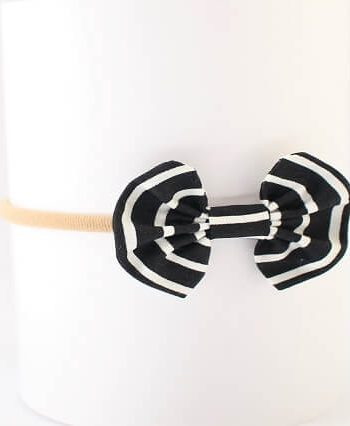 cute hair bows for girls in black and white stripes print