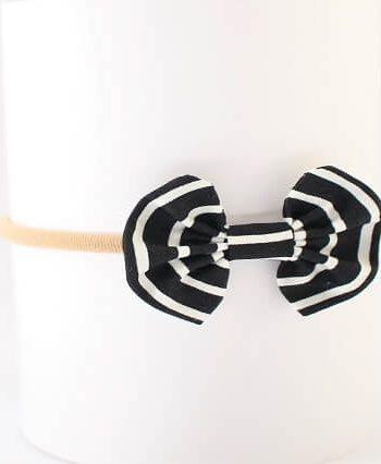 Baby Headbands Black and White Stripes