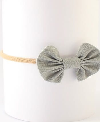 baby hair clips headband in grey fabric