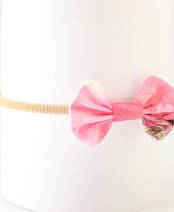 girls bows headbands in pink blossom tallulah print