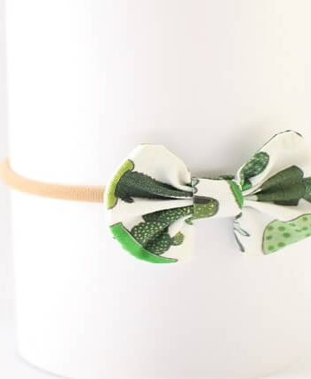 baby girl hair accessories in succulent and cactus print