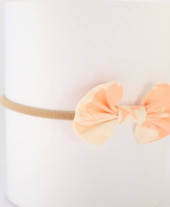 baby hair accessories in swans fabric print
