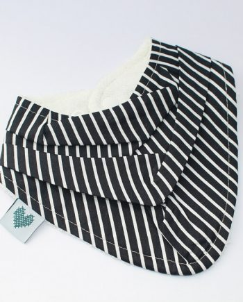 Bandana Bibs Black and White Stripes