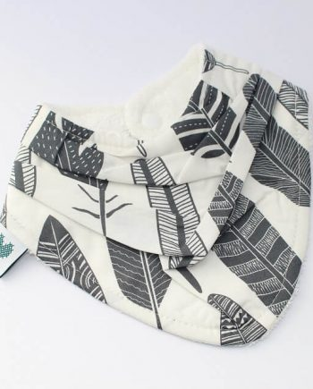 Bandana Bibs Grey Feathers