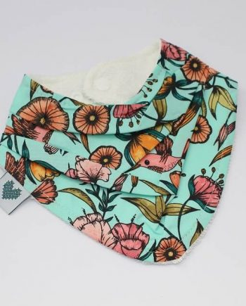 baby bandana bib in hummingbirds print