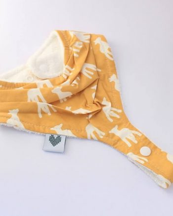 Pacifier clips bib in lambs print