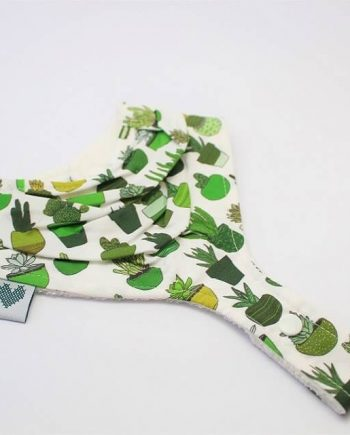 pacifier bib in succulents and cactus print