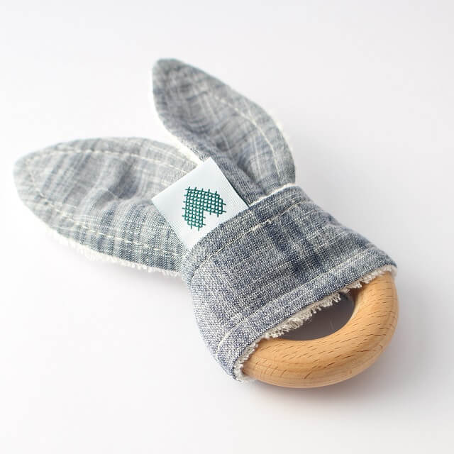 Indigo Bunny Teething Ring Image