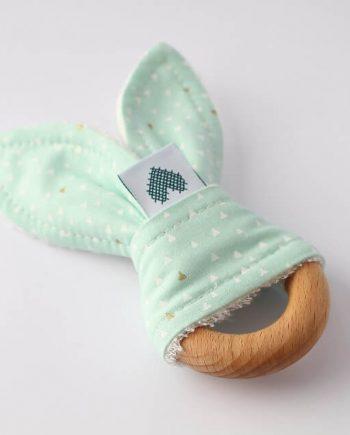 Bunny-Baby-Teething-Ring-Mint