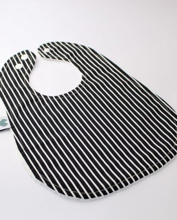 cool bibs in black and white stripes print
