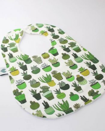 Stylish bibs in succulents and cactus print