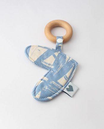 Love Heart Baby Teething Ring Boats