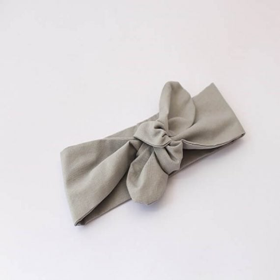 Baby head wraps top knot in grey print