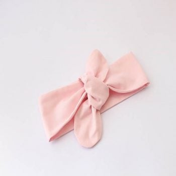 baby headwrap in pink fabric