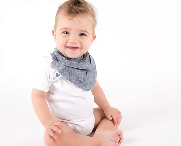 bandana bibs in indigo colour
