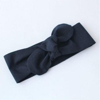 top knot headband for babies in Navy print