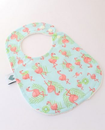 baby bibs in flamingos fabric print
