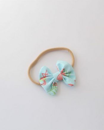 baby hair bands flamingos image