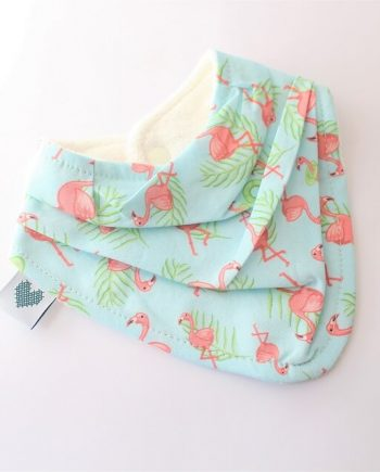 bandana bibs in flamingos fabric print
