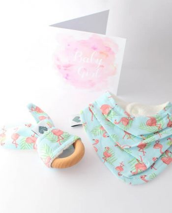 gifts for baby shower in flamingos print