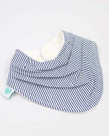 buy dribble bib in navy stripes