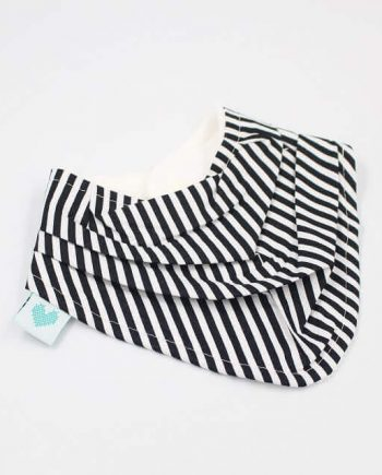 Baby bibs Australia in black and white stripes