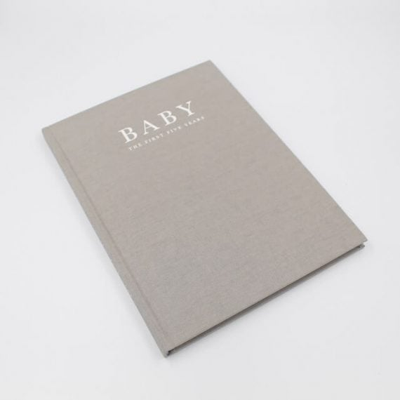 Baby Book in grey for the first five years
