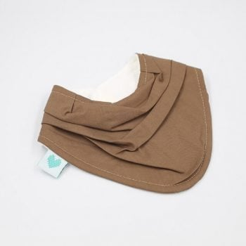 Cute bandanas bibs in burnt almond colour