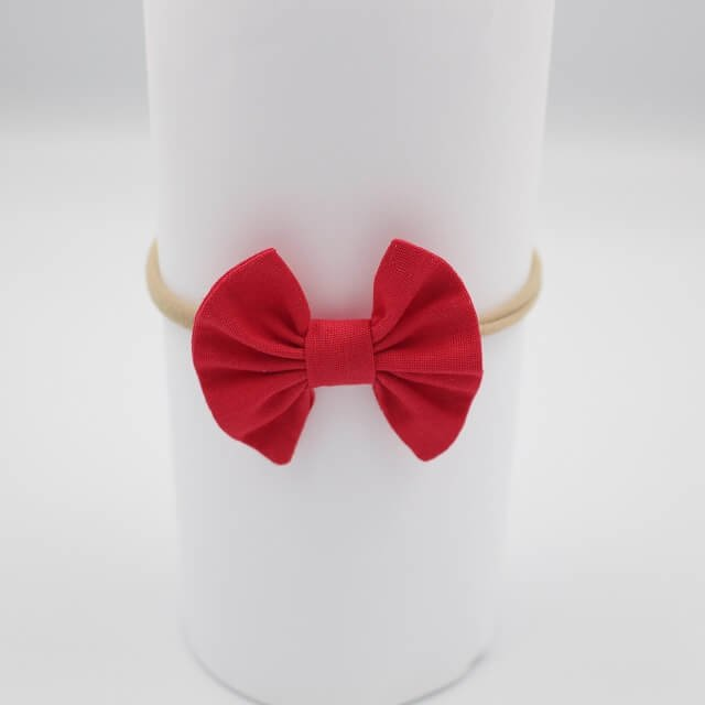 red baby headband image