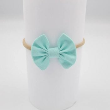 baby girl with headbands Aqua colour
