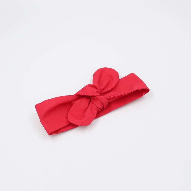 Hair knots accessory in red