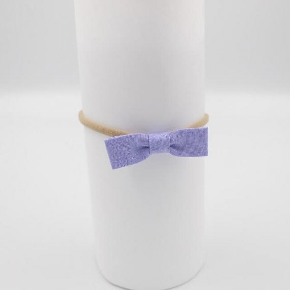 baby hair bows purple in colour