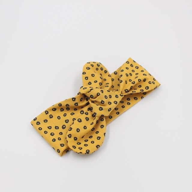 baby top knot gold in fabric