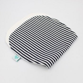 boy bibs and burp cloths in black and white stripes print