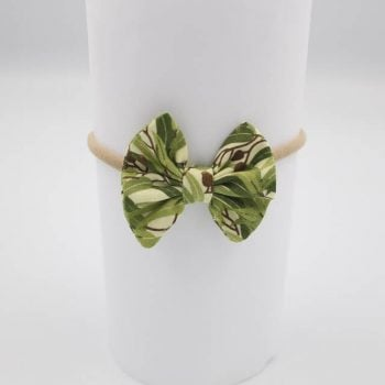 Cute hair accessories in Eucalyptus print
