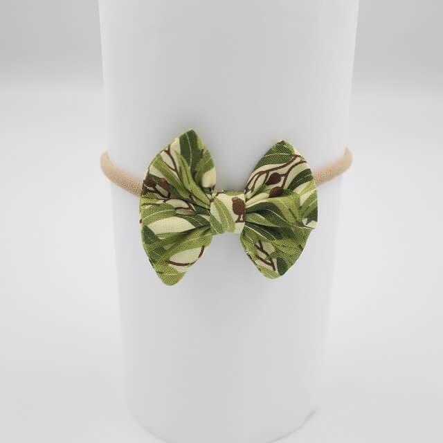 Eucalyptus print cute hair accessories in fabric