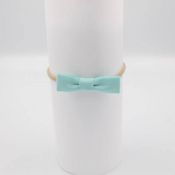 aqua hair bows for girls in fabric
